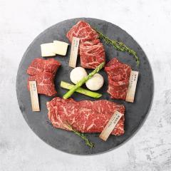 미국산 프리미엄 냉장 소고기 오마카세 세트-1.2kg(채끝등심,진갈비살,살치살,부채살)